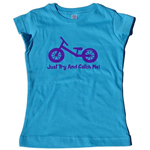 ZippyRooz Girls Toddler & Little Kids Balance Bike Tee Shirt Just Try and Catch Me! (3T)