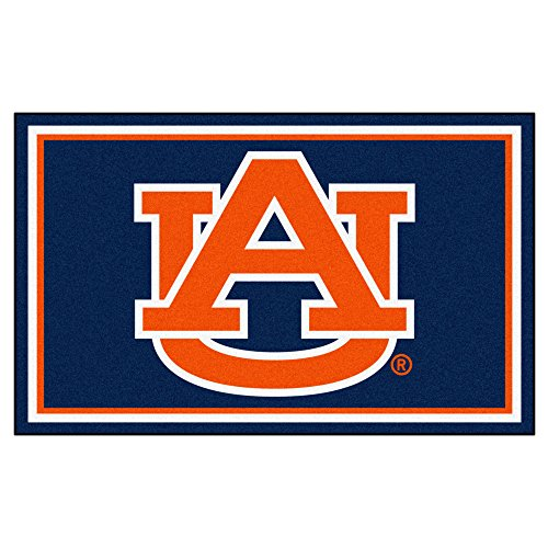NCAA Auburn University 4 x 6 Rug, 46'' x 72''/Small, Black by Fanmats