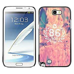 All Phone Most Case / Hard PC Metal piece Shell Slim Cover Protective Case Carcasa Funda Caso de protección para Samsung Note 2 N7100 86 autumn city born number boy