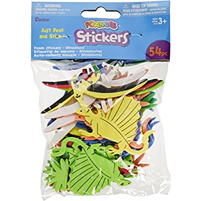 Darice Foam Stickers 54/Pkg-Dinosaurs: Arts, Crafts & Sewing