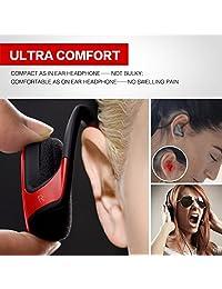 Auriculares deportivos inalámbricos Bluetooth 4.2, auriculares estéreo HiFi con micrófono, funda, 12 horas de reproducción (ligeros, cómodos y de rápido emparejamiento)