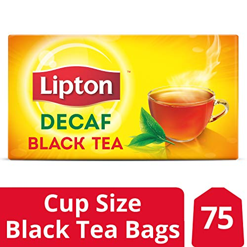 (Lipton Black Tea Bags, Decaffeinated, 75)