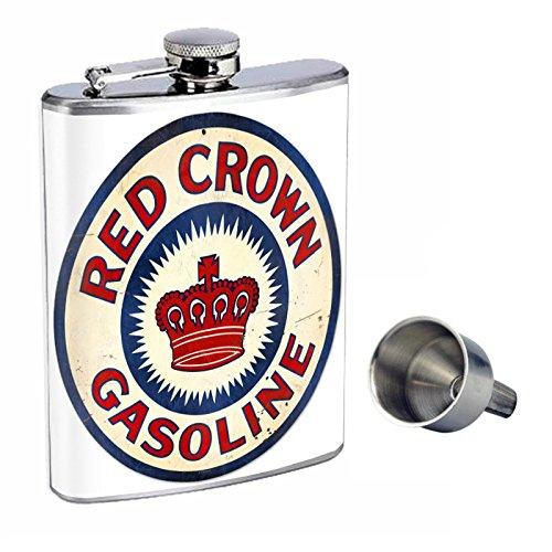 【正規品】 Perfection Inスタイル8オンスステンレススチールWhiskey Flask Crown Red with Free Funnel d-257 Red Crown Flask Gasoline B017GKYE8U, rightavail:abe81e83 --- choudeshwaripatpedhi.com