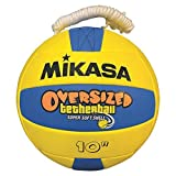 Mikasa Oversized Tetherball Oversized Soft Tetherball, Yellow/Blue, Oversized - 10'' Diameter