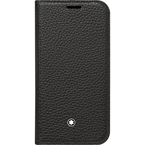 Genuine Montblanc 115835 Meisterstuck Soft Grain Flip Leather Cover Case for Samsung Galaxy S7 - Black by MONTBLANC