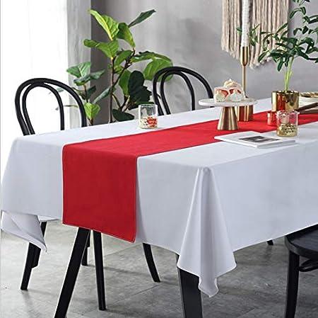 Mantel Blanco Simple Algodón Engrosamiento Restaurante Hotel Paño De Mesa Decoración De La Boda Mesa De Café Toalla Lavable Rectángulo 100X140 cm A: Amazon.es: Hogar