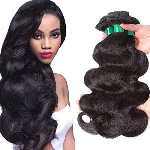10A Brazilian Body Wave 3 Bundles Deals Unprocessed Virgin Human Hair Weave Remy Weft Extensions Weaving For Black Women Natural Color (12