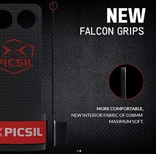 X PICSIL Falcon Grips 2&3 Holes, Hand Grips for Men & Women, Pullup Grips. RX, The New line for Hand Grips, Cross Training Gloves, Gymnastic Grips, Palm Grips, Pullup Grips.