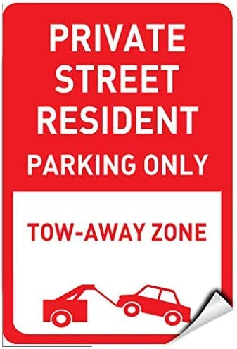 Parking All Sizes Residents Parking Only Sign Self Adhesive Sign Sticker