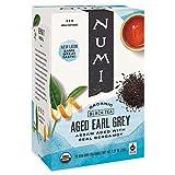 Numi Organic Tea Aged Earl Grey, 18 Count Box of Tea Bags (Pack of 3) Black Tea (Packaging May Vary)