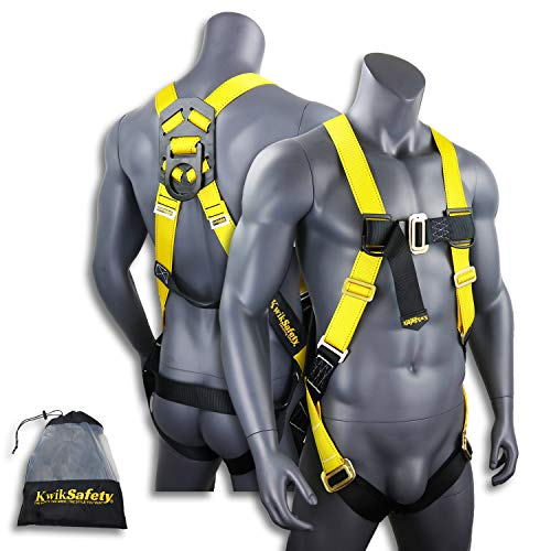 KwikSafety TORNADO 1D Fall Protection Full Body Safety Harness | OSHA Approved ANSI Compliant Industrial Roofing Tool Personal Protection Equipment | Construction Carpenter Scaffolding Contractor by KwikSafety