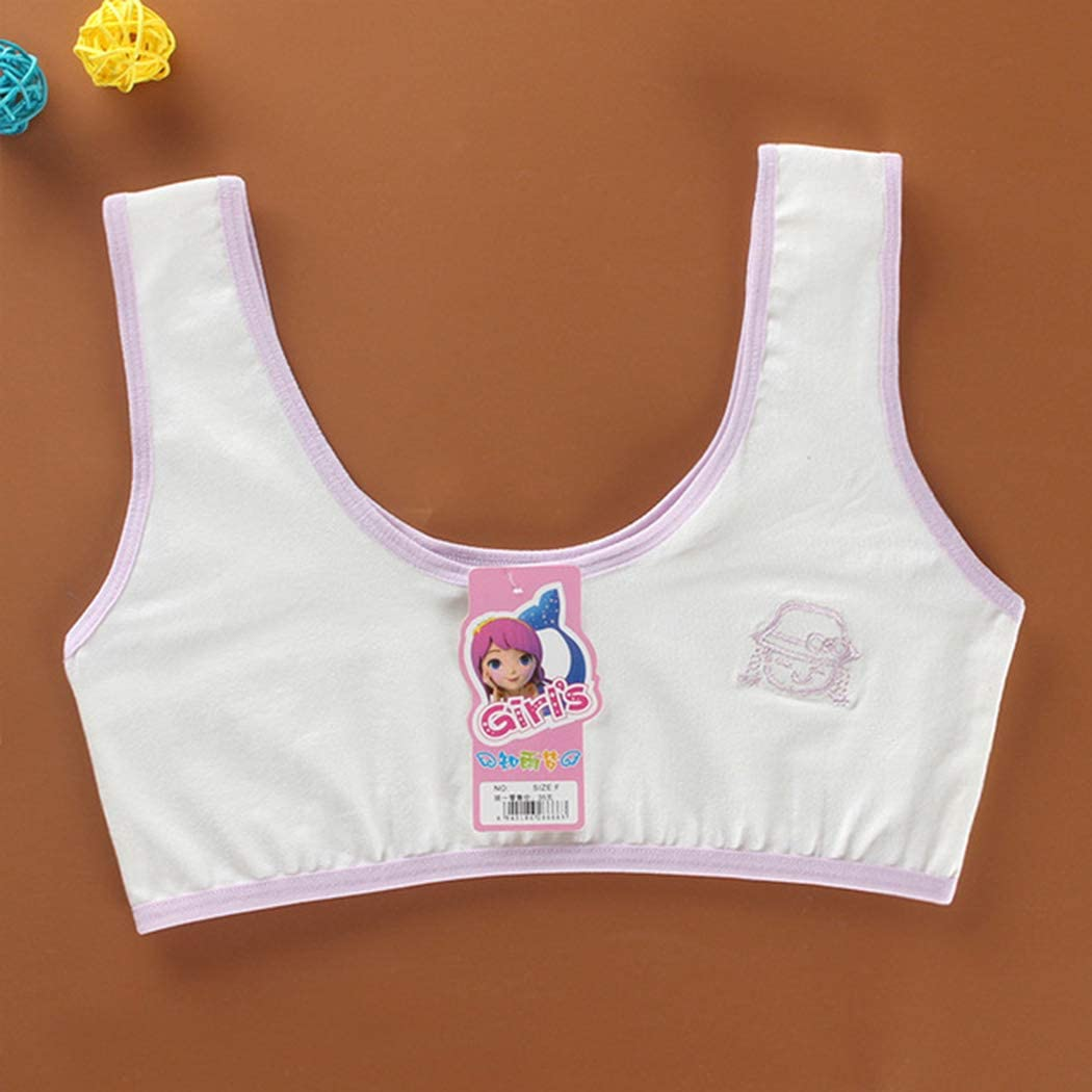 3PCS Cotton Braces Bras for Young Girl Clothing Tops for Children Undergarments