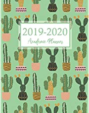 2019-2020 Academic Planner: Cactus Cover | July 2019-June 2020 Daily Weekly Monthly | Calendars with U.S. Holidays | Teacher and Student Planner Academic Agenda Schedule Organizer Logbook | 52 Weeks Appointment Notebook