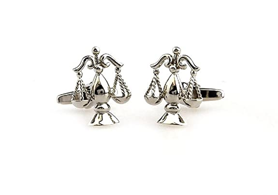 Scales of Justice Cufflinks in a Presentation Gift Box & Polishing Cloth