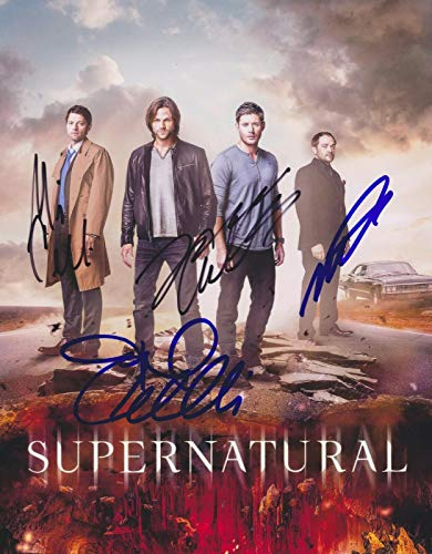SUPERNATURAL tv show CAST SIGNED 11x14 Reprint signed poster photo RP