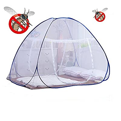 DmsBanga 2017 Summer Camping New Most Popular Mosquito Net for Bed Pop Up Nursery Guard Tent Folding Bottom Moustiquaire Canopy Zipper Baby Toddlers Kids Adult Travel Outdoor (200180150 Cm)