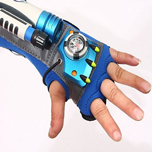 Digital Camera Spy Toy - Children Tactical Detective Glove and Super Spy Sleeve with Flashlight Telescope Compass Digital Watch Pencil and Shorthand Notes for Children role play COSPLAY