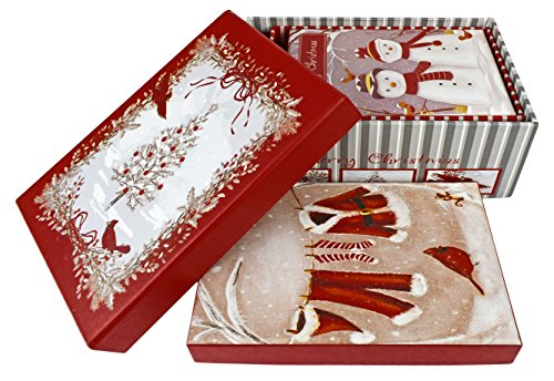 Alef Elegant Decorative Holiday Themed Nesting Gift Boxes - Sparkle Gift Box