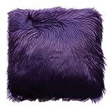 Purple Throw Pillows Decorative Throw Pillow Shaggy Purple (18 Inch X 18 Inch) Pillow