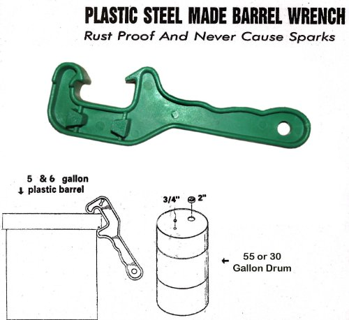 (Bucket Lid Wrench - Open / Lift Lids on 5 Gallon Plastic Buckets & Small Pails - Green - Durable Plastic Opener Tool)
