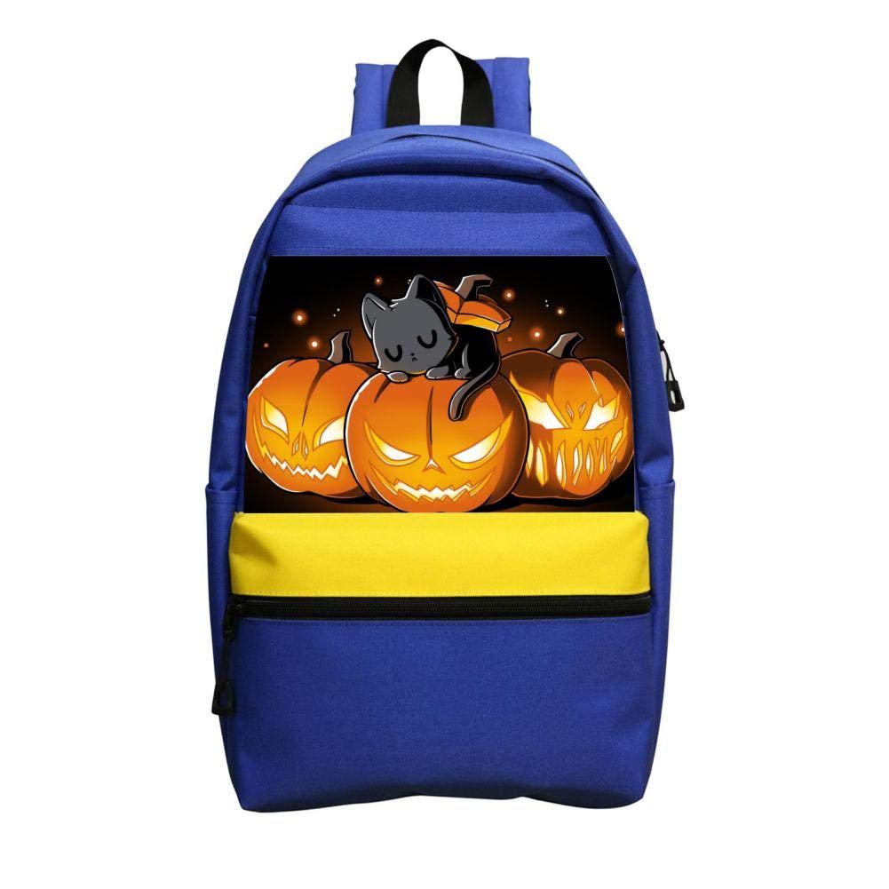 Halloween Kitty3D プリントスクールバッグ バックパック カレッジショルダー サッチ旅行バッグ カジュアルスクール ビジネスデイパック 子供用 大人用 B07GLF2DWW