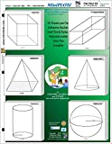 MiniPLOT Graph Paper Kit: Six 3D solid shapes for GEOMETRY printed on 3x3'' Sticky Note pads. 50 adhesive backed sheets per pad. Pads mounted on 8.5x11'' cardstock. Use for homework & more