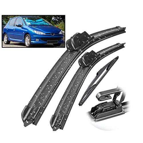 HCDSWSN Wiper Front Rear Wiper Blades Set,for Peugeot 206 Hatchback 2001 2006 Windshield Windscreen Window
