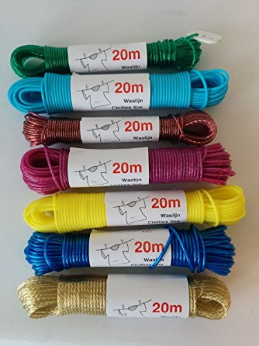 Wäscheleine 20m x 2,5 mm in verschiedenen Farben