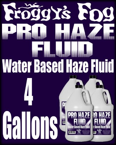 - Froggys Fog - High-Performance Haze Fluid for Hurricane Haze 2 & Fog Machines - Pro Haze Juice - Water Based Haze Fluid - 4 Gallons