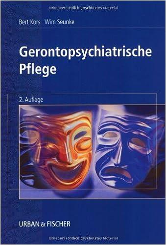Gerontopsychiatrische Pflege Amazon De Kors Bert Seunke Wim Bucher