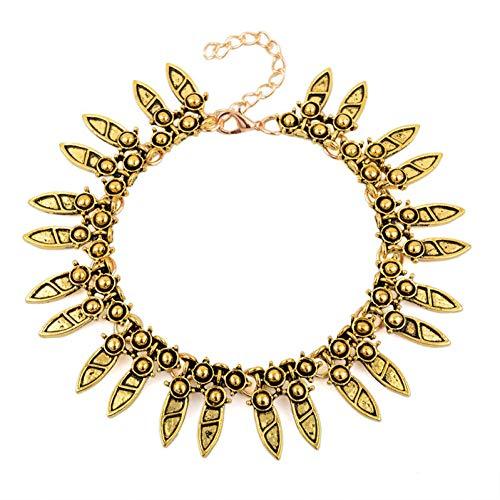 CTRCHUJIAN Retro 踝 Bracelet Feminine Summer Beach Leaf Bell Anklet Leg Anklet Bracelet Child Gift Charm