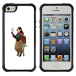 Be-Star único patrón Impacto Shock - Absorción y Anti-Arañazos Funda Carcasa Case Bumper Para Apple iPhone 5 / iPhone 5S ( Cartoon Character Girl Nature Tree Love )
