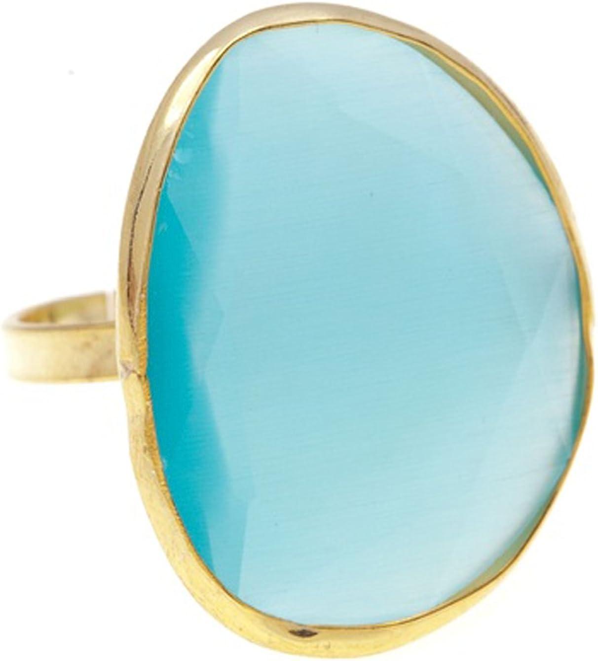 Córdoba Jewels | Anillo en Plata de Ley 925 bañada en Oro. Diseño Elegant Turquesa Oro