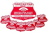 Vivid Home Security System Sign & 6 Alarm Security Sticker Set Weather Proof Sign and uv Coated Alarm Stickers