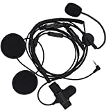 KENMAX Headset MIC Half Face 1 Pin 3.5mm for YAESU Vertex VX-180 VX-210 VX-210A FT-50 FT-50R FT-60