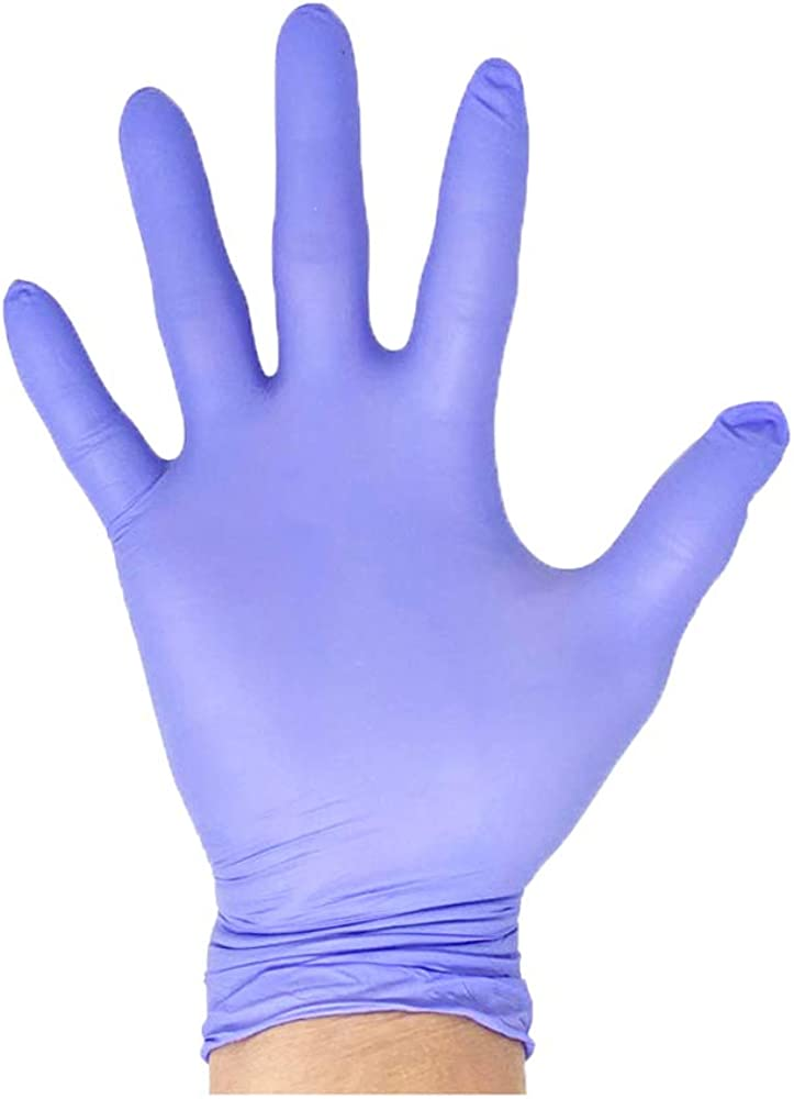 Innovative Haus Large Nitrile Gloves,Powder Free,Latex Free Gloves,Disposable Gloves,Gloves Disposable,Non Sterile,Food Gloves,Textured,Indigo Color,Box of 100 NGLG