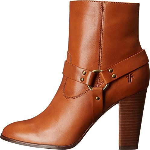 Frye Womens Laurie Harnais Court Tan Lisse Poli