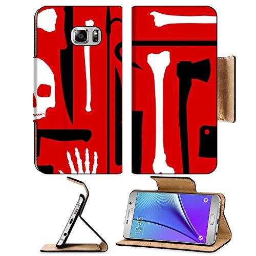 MSD Premium Samsung Galaxy Note 5 Flip Pu Leather Wallet Case Note5 IMAGE ID: 5193770 Murder seamless (Crowbar Prop)