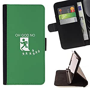 KingStore / Leather Etui en cuir / Sony Xperia Z3 Compact / Oh God No