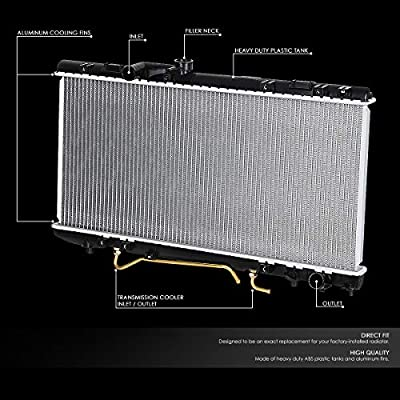 1174 Factory Style Aluminum Cooling Radiator Replacement for 90-93 Toyota Celica GT/GTS All Trac AT: Automotive