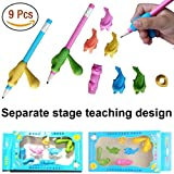 Pencil Grips,Writing Correction Device TANBT Pencil Grips for Kids Handwriting Correction Writing Tools Fish Sets Kit Suitable Correcting Left Handed Pencil Kids Corrects Positioning Cons Pen Grips