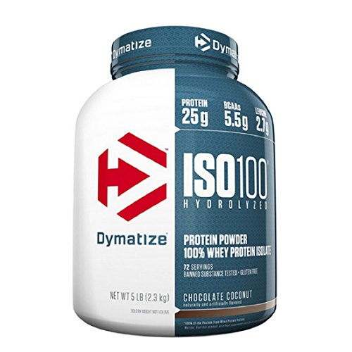 Dymatize ISO 100 Whey Protein Powder Isolate, Fudge Brownie, 5 lbs ()