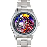 Art Theme Nightmare Before Xmas Print for 40mm Stainless Steel Watch Sports Wristwatch Metal Band