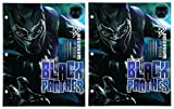 Set of 2 Black Panther King of Wakanda 2-Pocket 3-Hole Punched School File Folder
