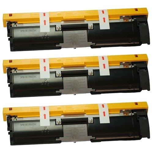Image of Amsahr 1710587-004 Minolta 1710587-004 Remanufactured Replacement Toner Cartridge with Three Black Cartridges