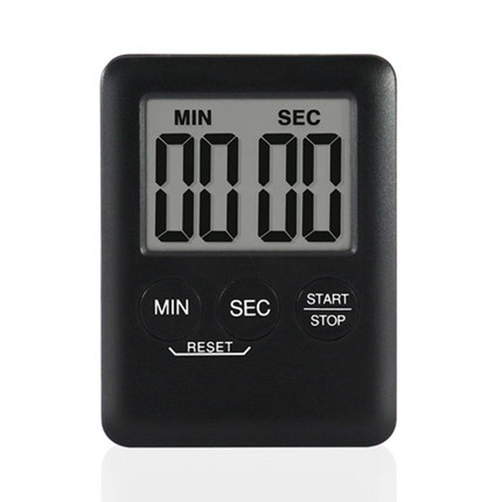 Timer Mini Countdown Timer Voice Reminder Household Precise Timer , black