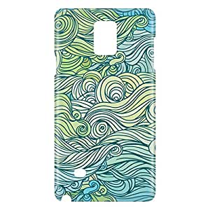 Loud Universe Samsung Galaxy Note 4 3D Wrap Around Waves Print Cover - Multi Color