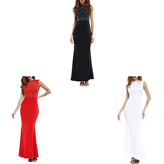 Luiyy® Vestidos de Fiesta para Mujer Vestidos con Lentejuelas de ...