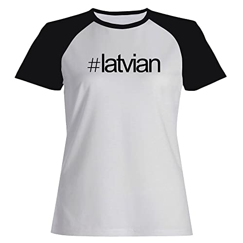Idakoos Hashtag Latvian – Lingue – Maglietta Raglan Donna