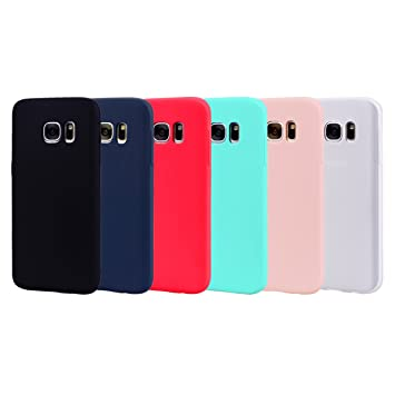 Leton 6X Funda para Samsung Galaxy S6 Edge Silicona Ultrafina Case Suave Flexible TPU Carcasa Galaxy S6 Edge Ultra Delgado Gel Caja Anti Choque Candy ...